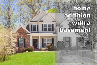 Greenleaf Developers home addition with a basement Glenview