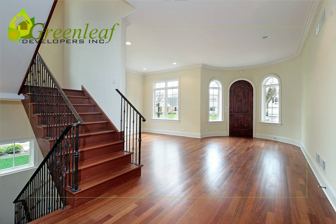 VHT House front entrance foyer/ additions and new homes in Glenview by Greenleaf Developers