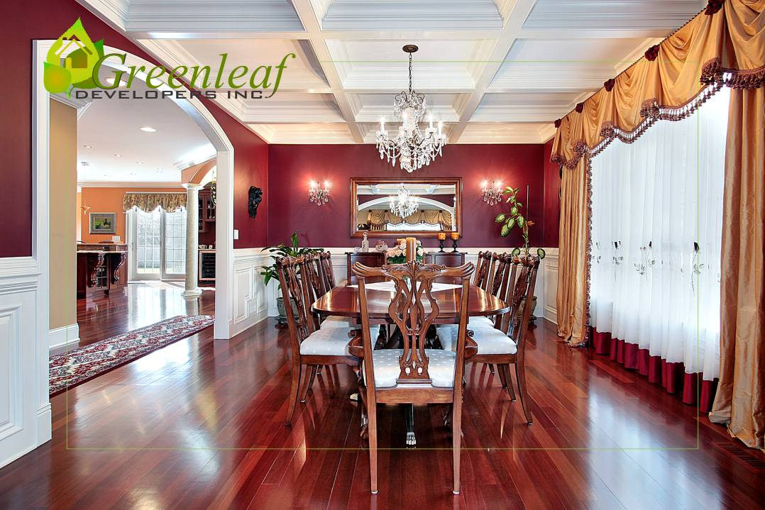 Dewes House dinning room / additions and new homes in Glenview by Greenleaf Developers