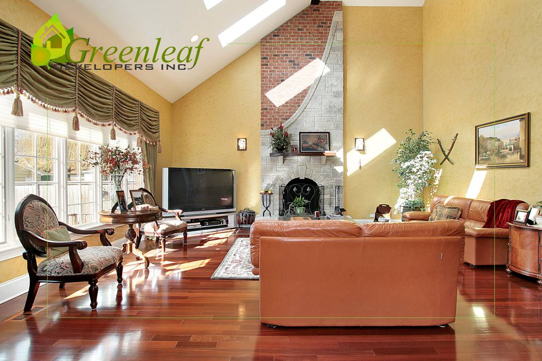 Dewes House family room / additions and new homes in Glenview by Greenleaf Developers