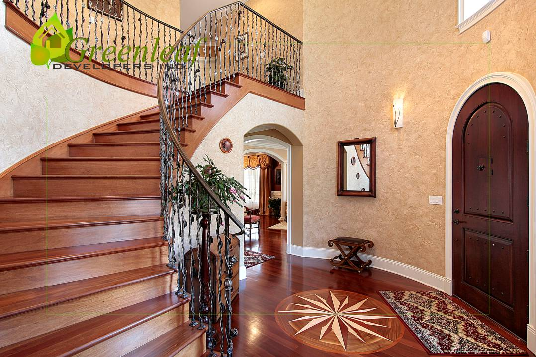 Deves House front entrance foyer/ additions and new homes in Glenview by Greenleaf Developers