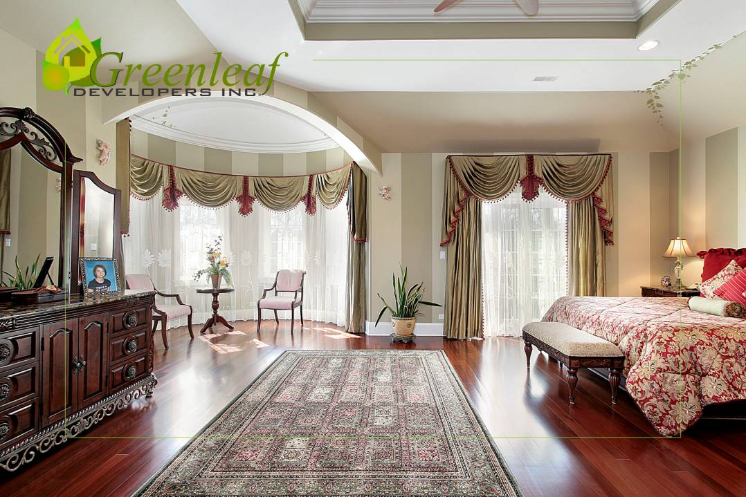 Dewes House master bedroom / additions and new homes in Glenview by Greenleaf Developers
