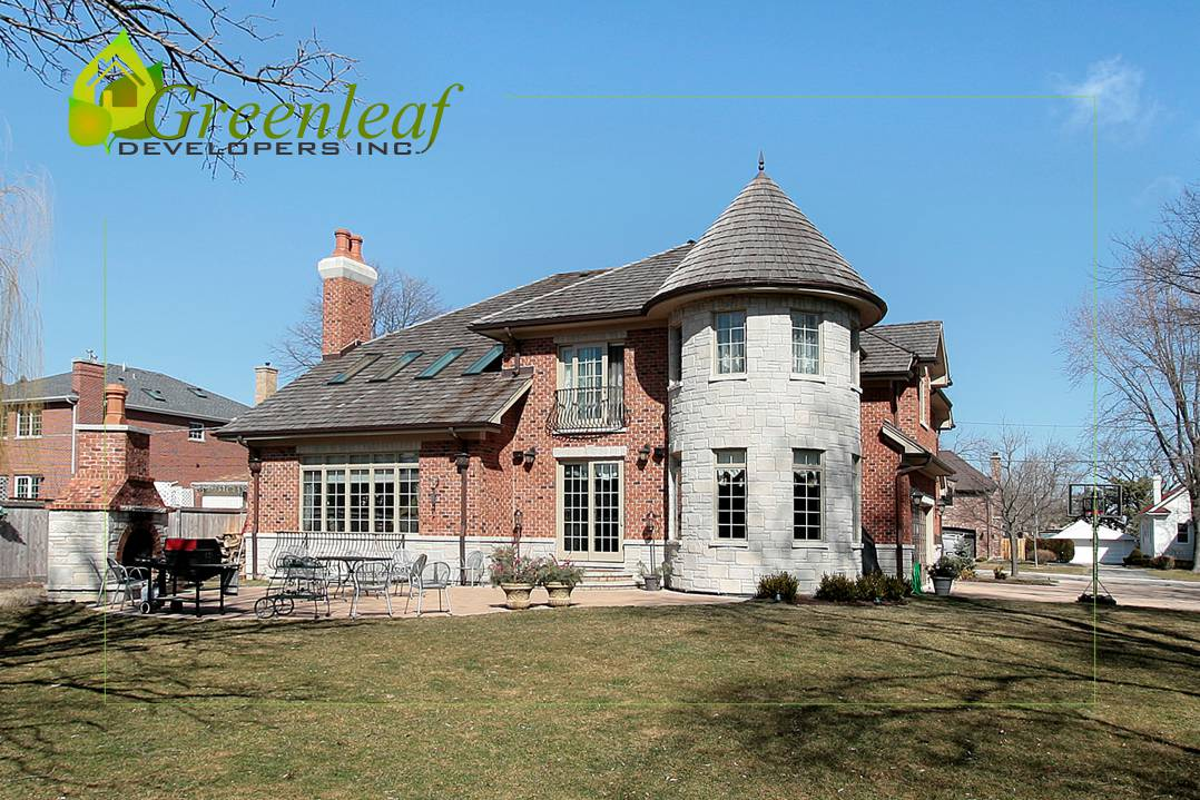 Dewes House rear view / additions and new homes by Greenleaf Developers