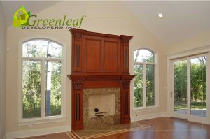 Robincrest house family room, additions, new homes, Greenleaf Developers Glenview