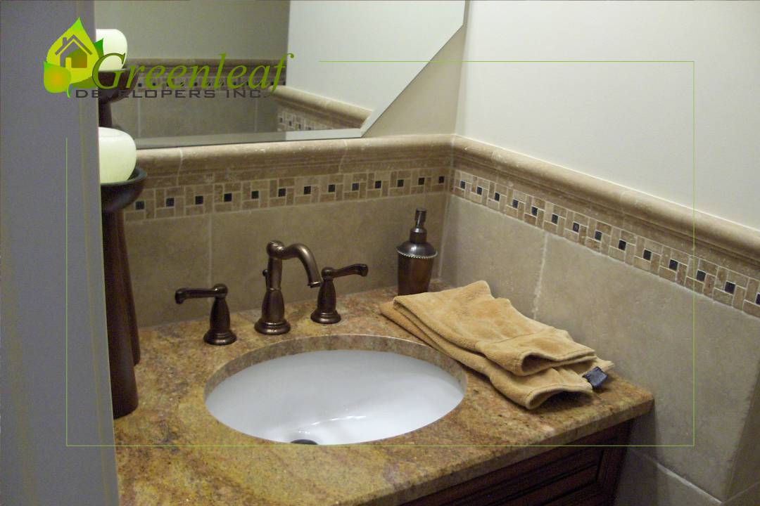 Robincrest house half bathroom, additions, new homes, Greenleaf Developers Glenview