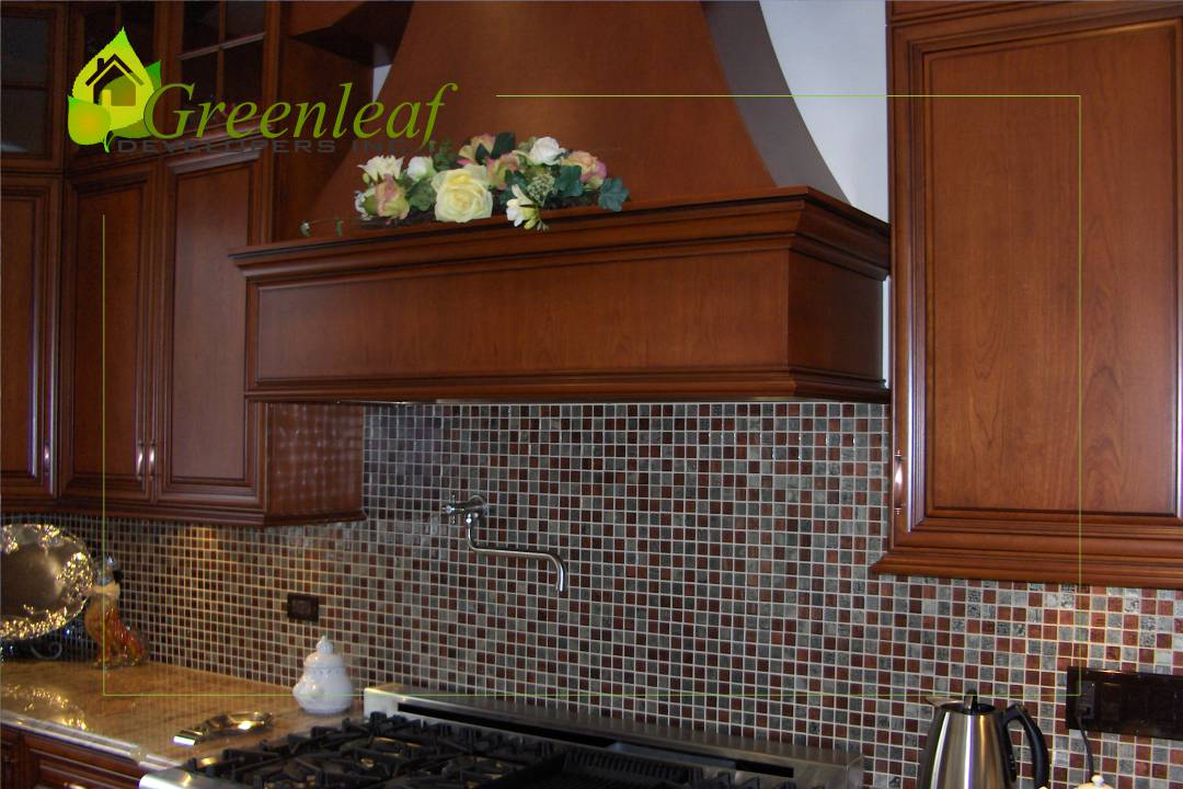 Robincrest house kitchen custom hood, additions, new homes, Greenleaf Developers Glenview