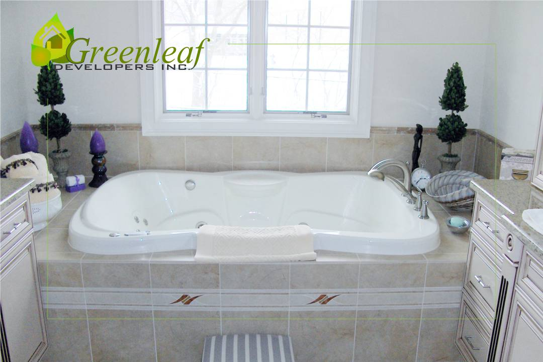 Robincrest house master bathroom, additions, new homes, Greenleaf Developers Glenview