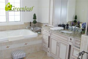 Robincrest house master bathroom sink, additions, new homes, Greenleaf Developers Glenview