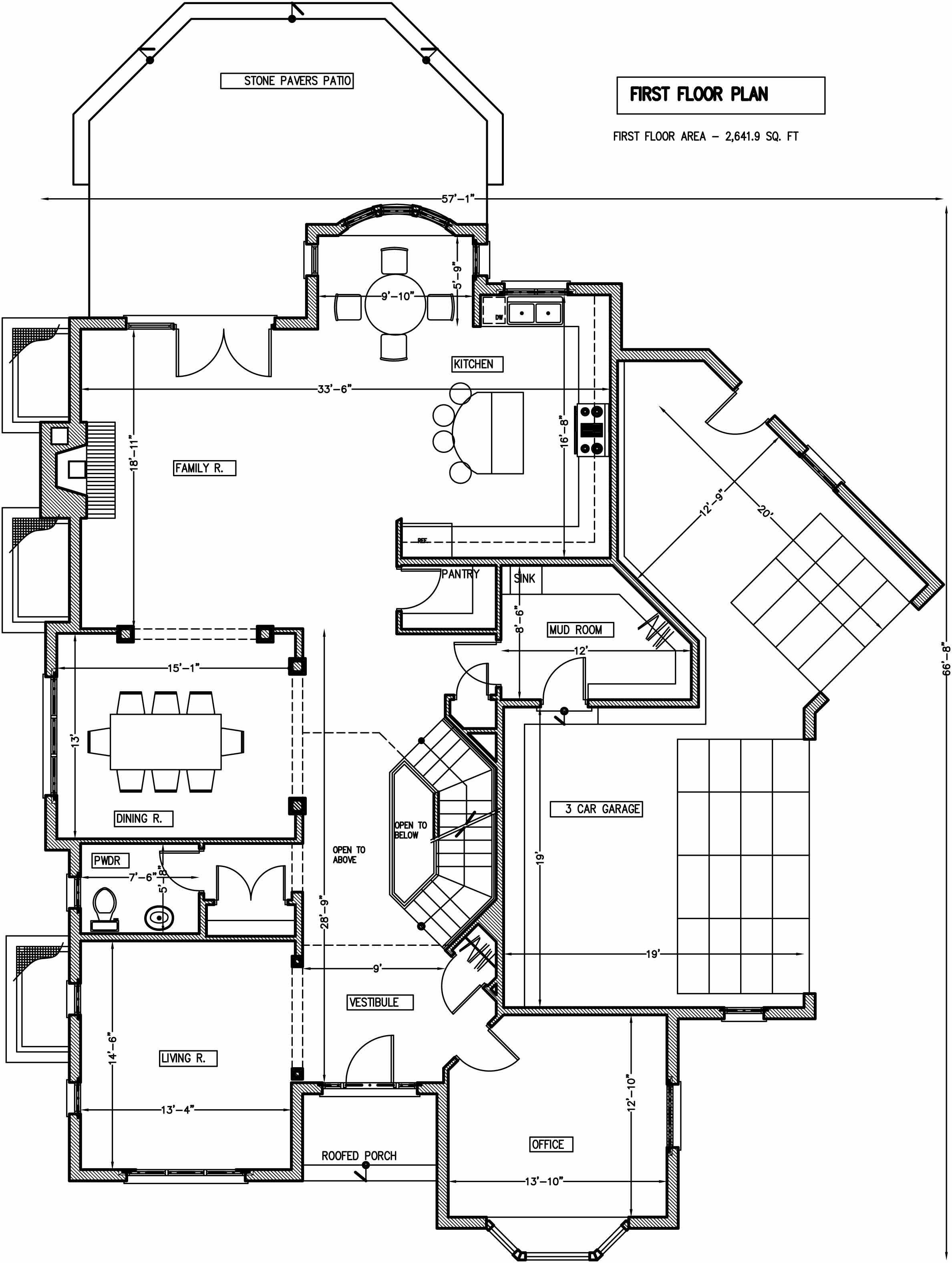 first floor plan / additions and new homes in Glenview by Greenleaf Developers