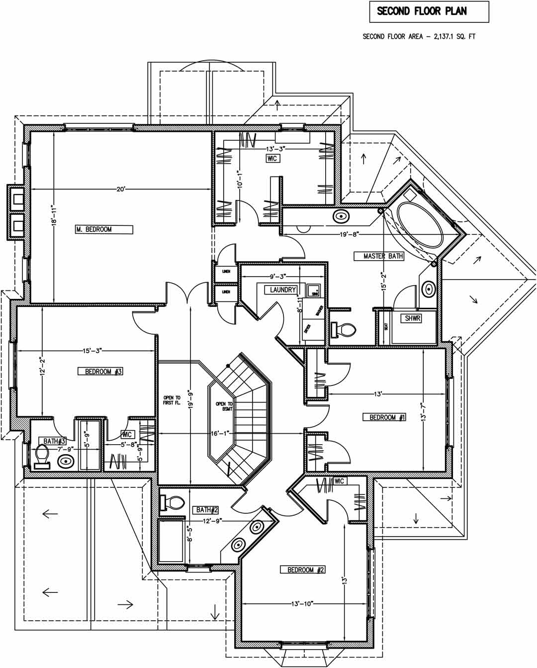 LINNEMAN second floor plan / additions and new homes in Glenview by Greenleaf Developers