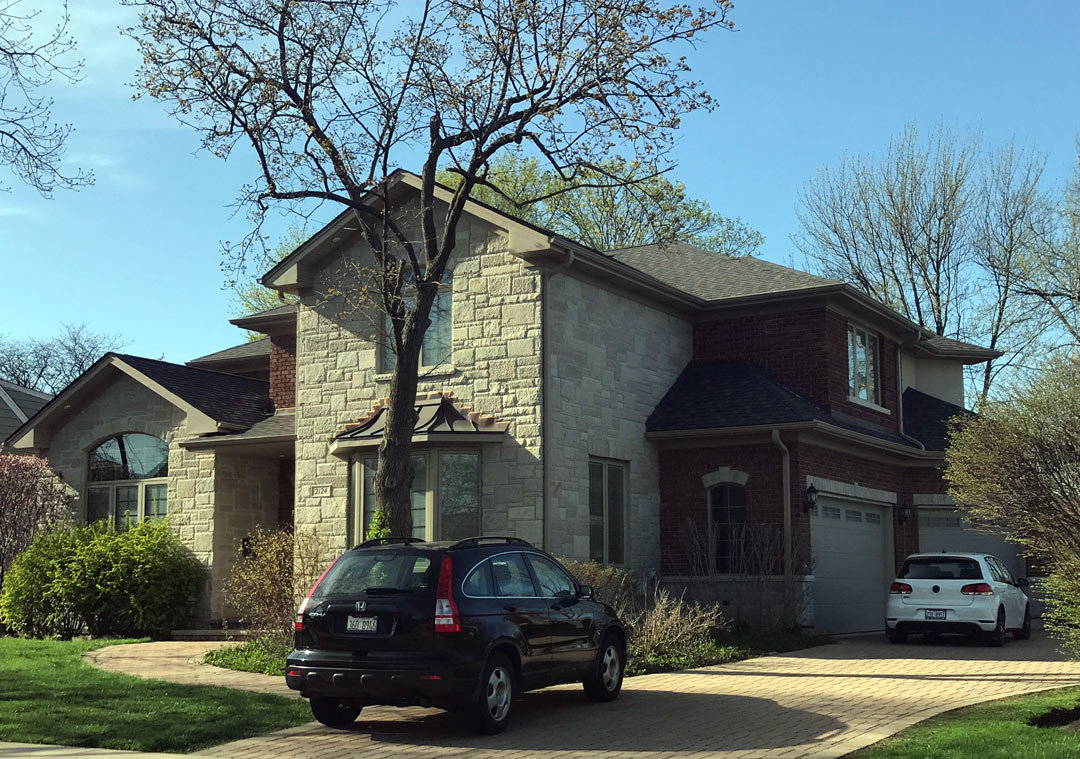 front right view / additions and new homes in Glenview by Greenleaf Developers
