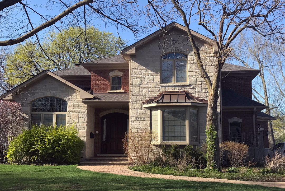 House facade / additions and new homes in Glenview by Greenleaf Developers