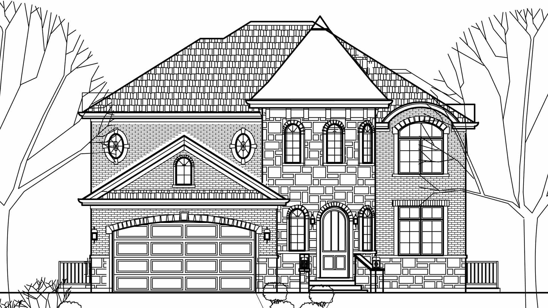 VHT House lower level / additions and new homes in Glenview by Greenleaf Developers