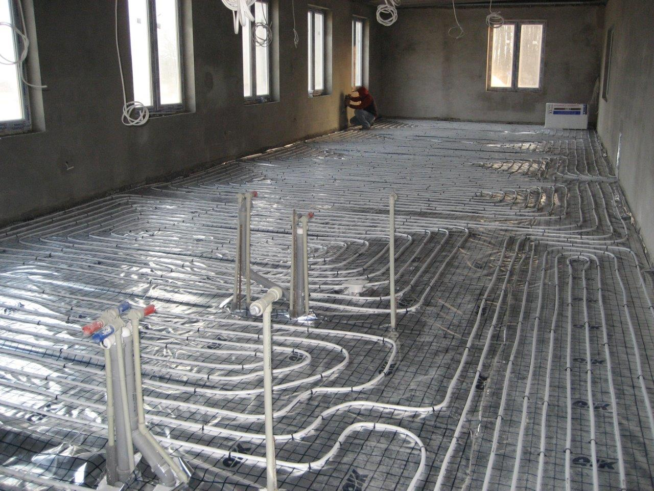 Ice Cream Factory - floor radiant heat / Industrial construction