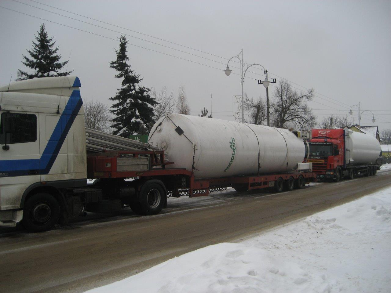 Ice Cream Factory - Liquid Nitrogen tanks delivery / Industrial construction