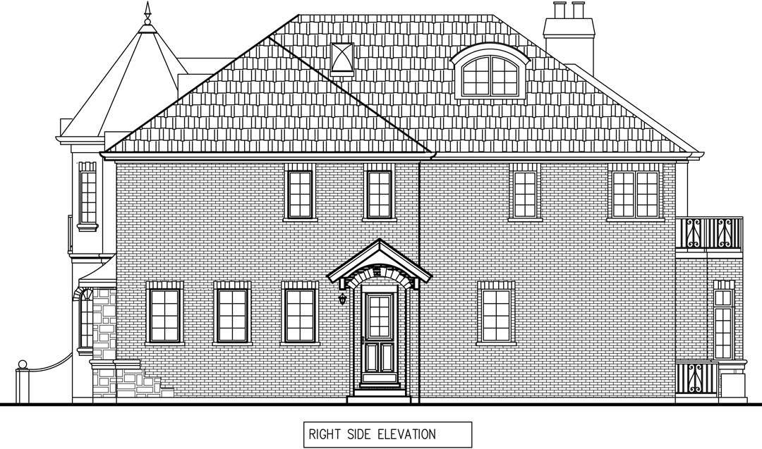 New Two story house in Winnetka right elevation draft / additions and new homes in Glenview by Greenleaf Developers